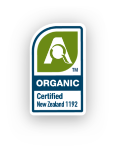Manufactured and certified organic in New Zealand
