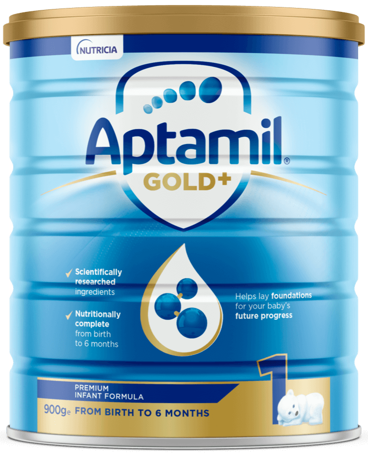 Aptamil Gold +, Infant Formula, From Birth To 6 Months, 900g