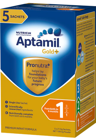 Aptamil Gold+ Sachets, Stage 1