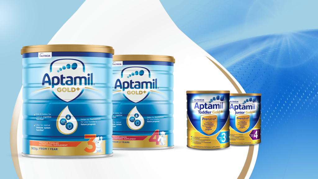 New visual identity for Aptamil Gold+