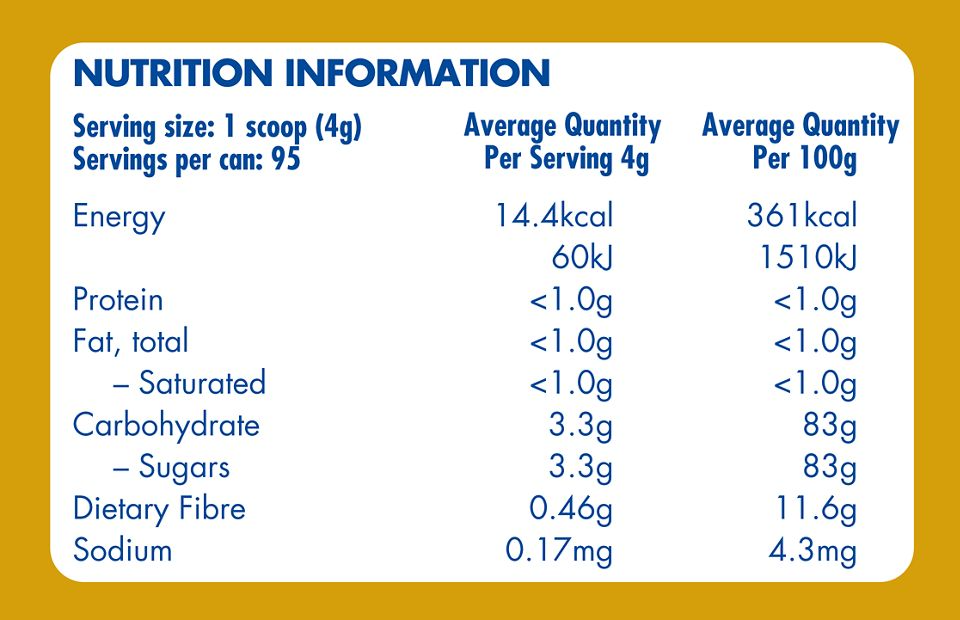 Aptamil Gold+, Feed Thickener, Nutrition Information