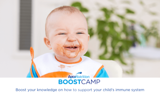 Healthy eating to support your baby's immune system | AptaNutrition Parents' Corner | Boost Camp