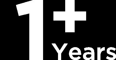 1+ years