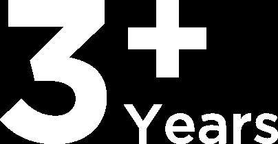 3+ years
