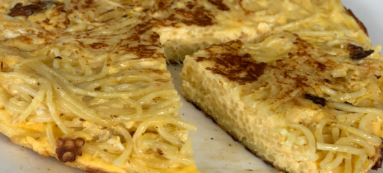 Spaghetti Frittata recipe for picky eaters