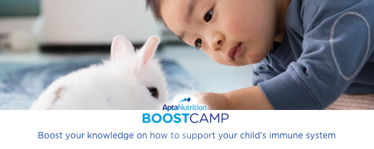 Toddler with Bunny Aptamil Boost Camp