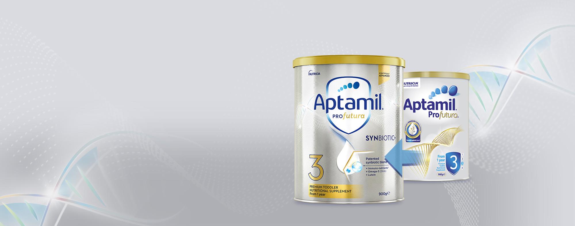 Aptamil Toddler - Old Tin and New Tin