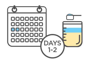Aptamil Toddler - Formula Transition Plan - Day 1 to 2