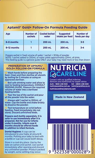 Aptamil Pronutra Gold Plus Carton Render Stage 2 Back