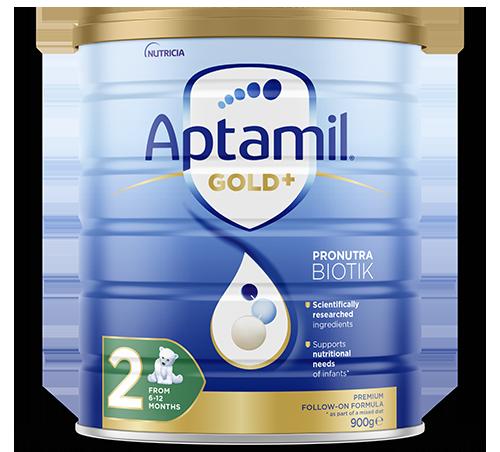 Aptamil - Gold Plus Pronutra Biotik Infant Formula - Stage 2 - FOP