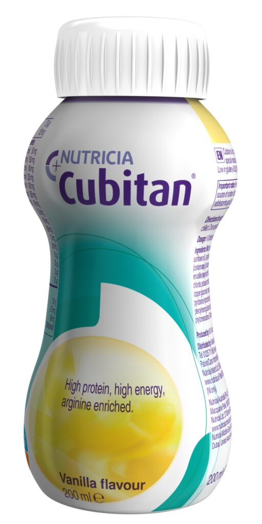 Cubitan complete oral supplement with essential nutrients for wound healing available in vanilla