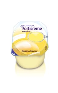 Forticreme Complete Banana Flavour semi-solid, nutritionally complete oral supplement by Nutricia