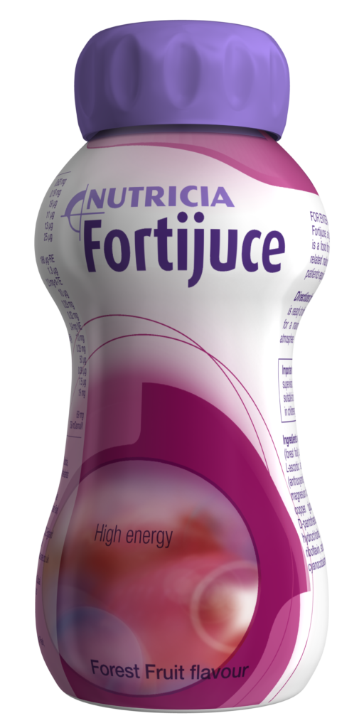 Fortijuice Forest Fruit Flavour reduced mineral content juice style oral nutritional supplement