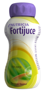Fortijuice Tropical Flavour fat free reduced mineral content juice style oral nutritional supplement