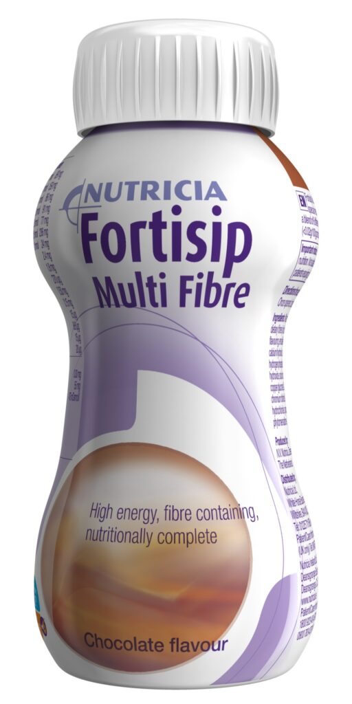 Fortisip Multi Fibre chocolate flavour, ready-to-drink, fibre enriched, oral nutritional supplement