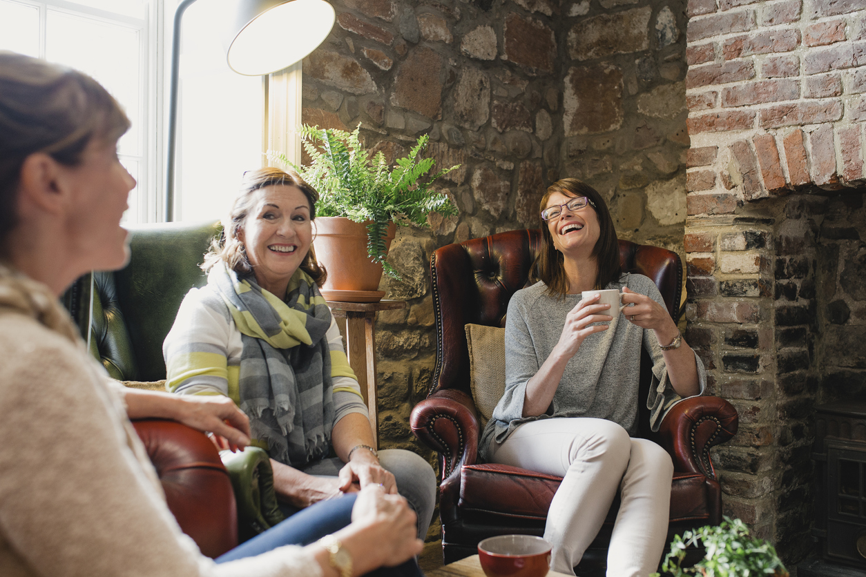 Female Friends Catching Up over Coffee Fortisip   Nutricia