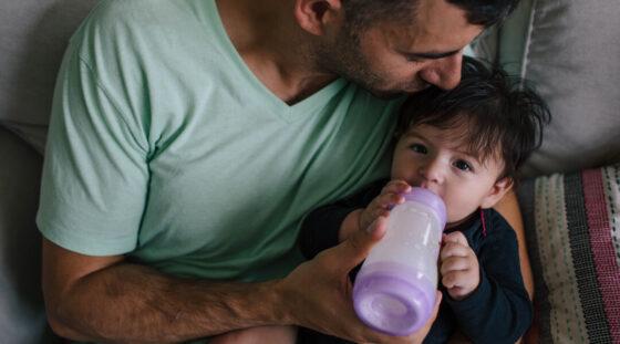 Child bottle feeding