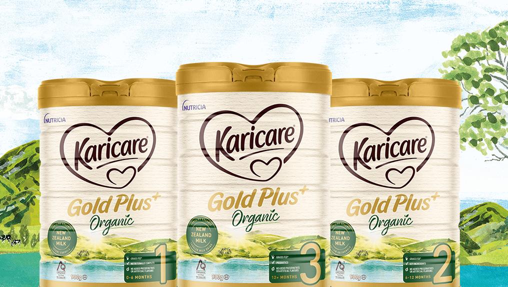 Karicare Gold+ Organic product range