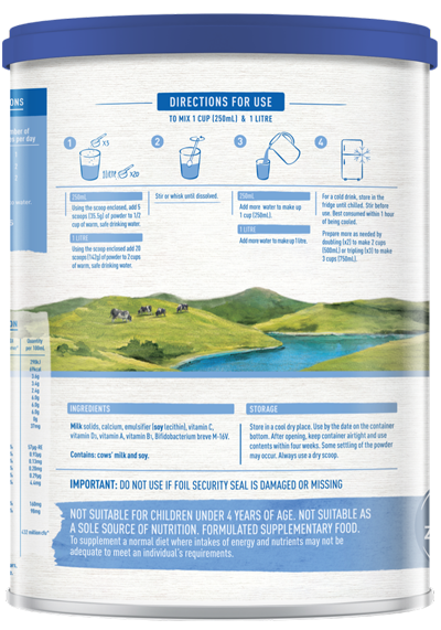 Karicare Family Fortified Milk Powder preparation instructions
