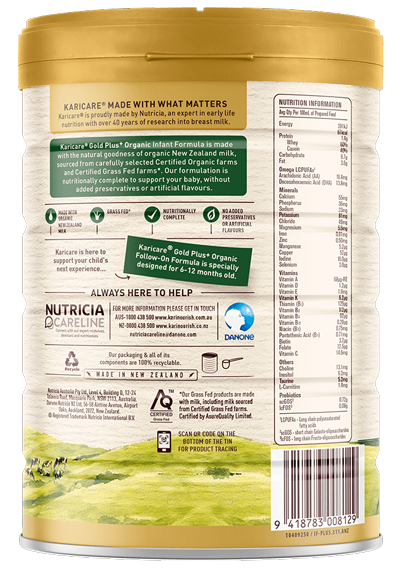 Karicare Gold Plus Organic Stage 1 New Zealand Milk 0-6 months old