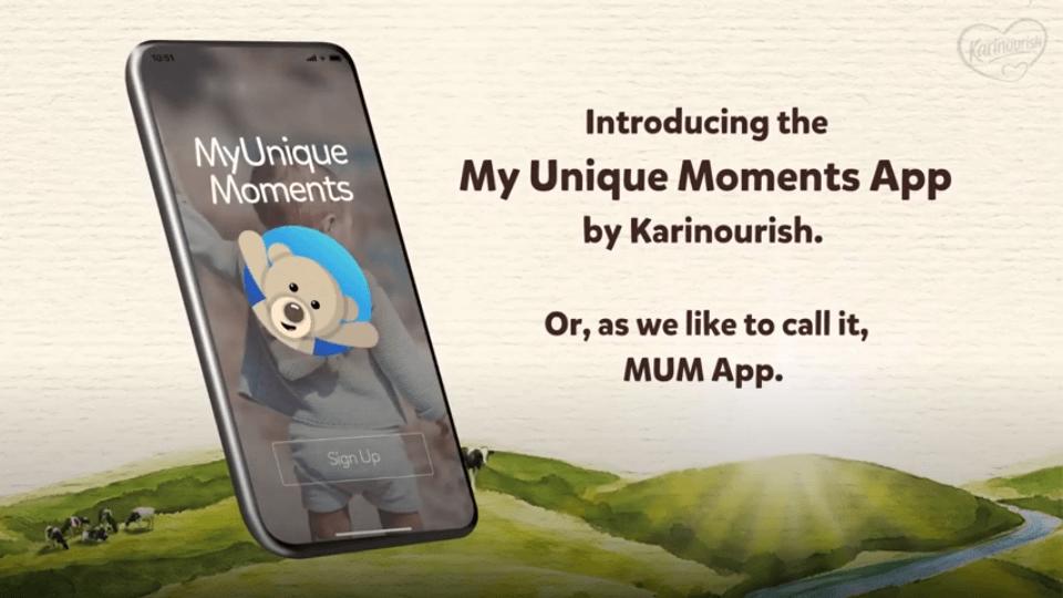 Karinourish - MUM app demo video