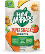 Mini Warriors Carrot with Apple flavour