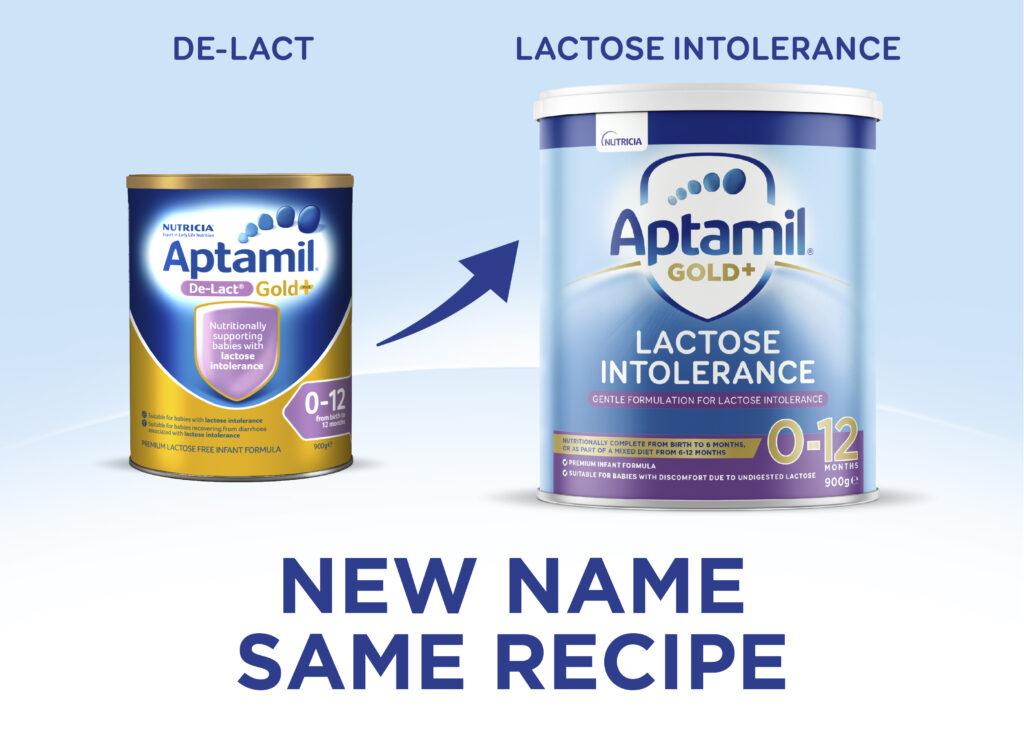 Aptamil Gold+ De-Lact - Lactose-Free Formula new look & name