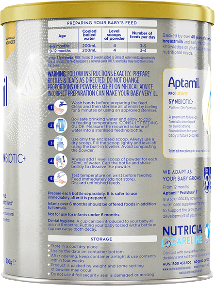 Aptamil, Profutura Follow-on Formula , From 6 to 12 Months, 900g