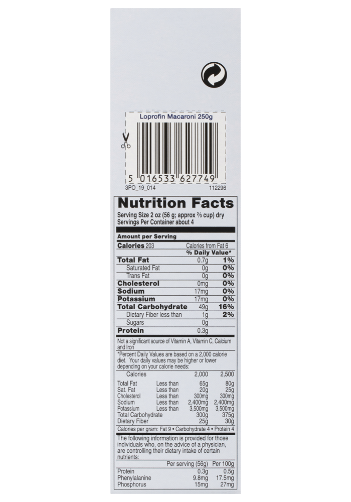 Loprofin Macaroni Side   Paediatrics Healthcare   Nutricia