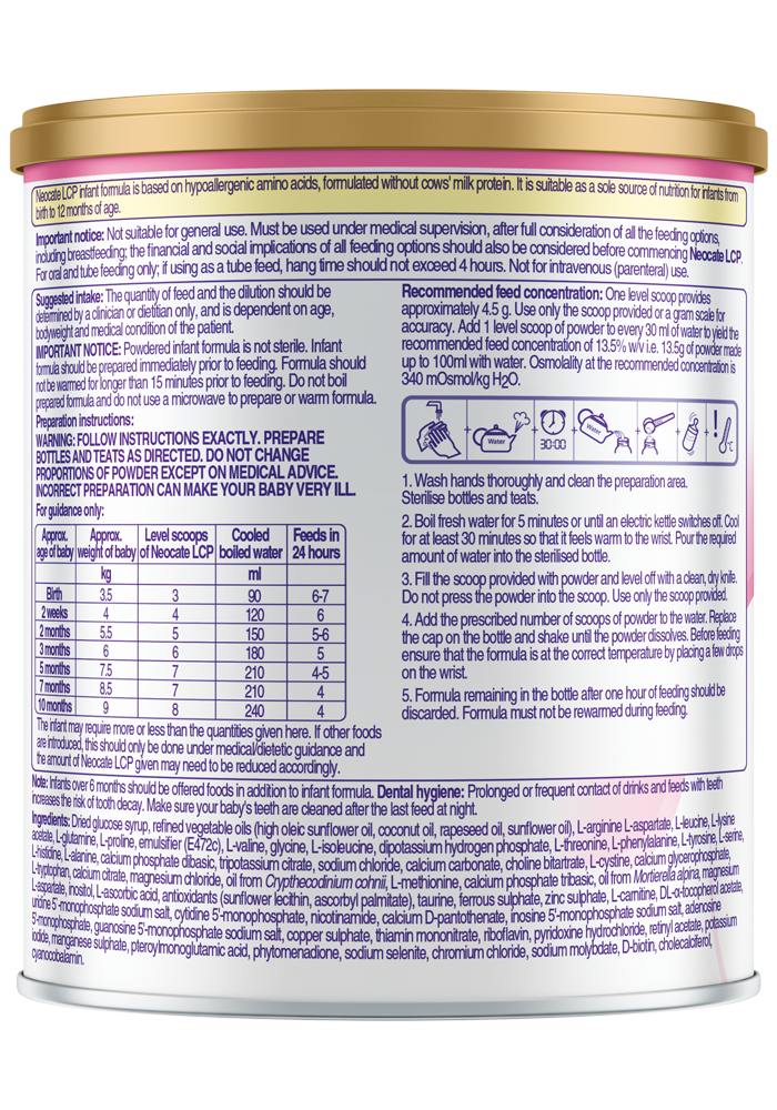 Neocate LCP - SOP   Paediatrics Healthcare   Nutricia